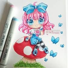 Image result for copic drawing chibi