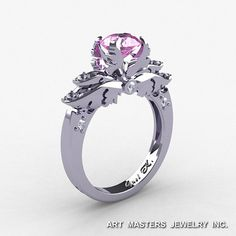 Classic 14K White Gold 1.0 Ct Light Pink Sapphire by DesignMasters, $1159.00
