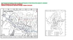 Map telling the technical story of Nepal earthquake precaution lesson to Myanmar by Aungmingalar Myanmar via slideshare