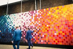 Color-spiration! 'Prismatic Landscape' a collaboration between Ptolemy Mann and Johnson Tile at the Clerkwell Design Week in London.