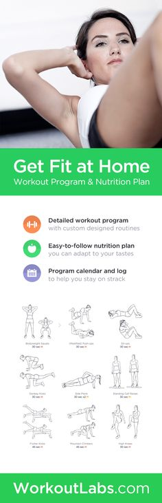 Simple 8-week workout program and nutrition plan – shed the extra pounds and get in shape with 20-minute at-home workout routines!