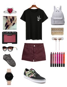 """""""Untitled #35"""" by katieescreations on Polyvore featuring Vans, NARS Cosmetics, Skemo, Cynthia Rowley, Thierry Lasry, Witchery, CLUSE and Urban Decay"""