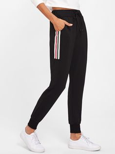 Shop Striped Side Track Pants online. SheIn offers Striped Side Track Pants & more to fit your fashionable needs.