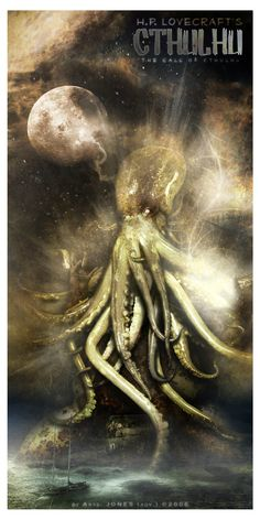 H.P. Lovecraft by aJa Jones, via Behance