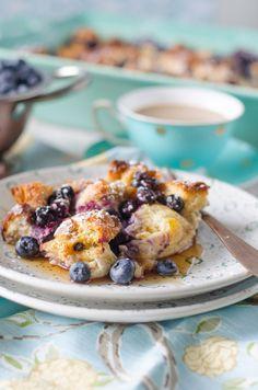 Overnight Blueberry French Toast Casserole   Go Go Go Gourmet @gogogogourmet