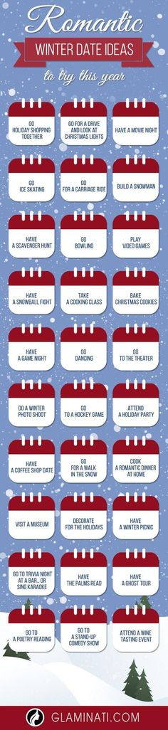 See our 30 fun and romantic winter date ideas for any couple. Winter will soon be here and even though it's cold, you can heat it up with romance. Winter Date Ideas, Cute Date Ideas, Winter Fun, Gift Ideas, 31 Ideas, Married Life, Carpe Diem, Dating Advice, Dating Divas