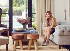 Before and After: Actress Sasha Alexander's European-Inspired L. Home: The Spanish-style home of a Rizzoli & Isles star gets a full remodel. Alexander Sasha, French Style Homes, Spanish Style Homes, Spanish Revival, Spanish Bungalow, Spanish Colonial, Spacious Living Room, Living Spaces, Living Rooms