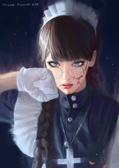 Kai Fine Art is an art website, shows painting and illustration works all over the world. Black Lagoon Anime, Revy Black Lagoon, Character Inspiration, Character Art, Character Design, Cool Anime Girl, Anime Art Girl, Anime Girls, Fanarts Anime