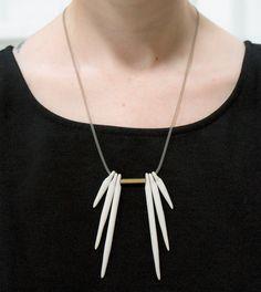 Split Fringe Necklace  Pigeon Toe Ceramics