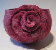 rose bowl in merino wool