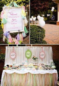 LOVE-ly Tea Party Bridal Shower {Vintage Lace + Pastels}