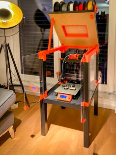 Prusa Printer Enclosure – with support A fantastic wardrobe for my printer. He not only looks good, he also saves floor space. Here with a second compartment for another Design Files, 3d Design, 3d Printer Projects, Projects To Try, 3d Printing Diy, 3d Prints, Print Ideas, Floor Space, Cnc