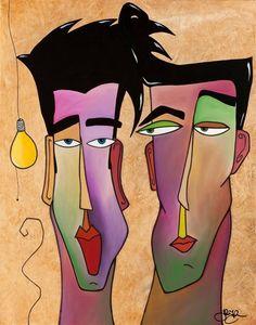 'Idea Men' by Tom Fedro to view the full 'Tom Fedro' range visit www.themodernartgallery.co.uk
