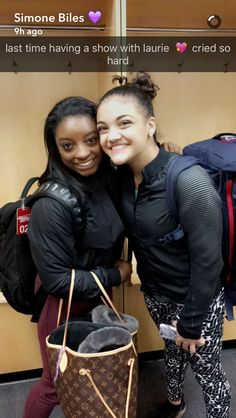 Simone Biles and Laurie hernandez