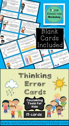 Changing Negative Thoughts Worksheets: Use Positive ...
