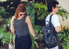 Look de Casal: Listras e Jeans