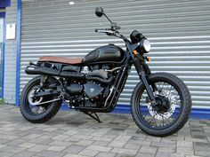 Our black Scrambler custom attracted lots of attention at Triumph Live 2014.