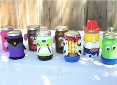 Toy story characters Mason jars