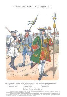 Band X #16.- Österreich-Ungarn. Kaiserliche Infanterie. 1690-1701.
