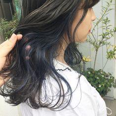 Green Hair, Blue Hair, Hair Inspo, Hair Inspiration, Hair Color Underneath, Two Color Hair, Sulli, Asian Hair, Colored Highlights