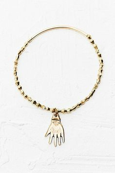 Vanessa Mooney Take Away My Trouble Bracelet in Gold - Urban Outfitters