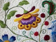 Jacobean style embroidery