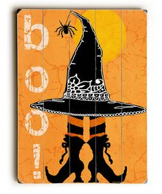 Look at this 'Boo!' Witch Hat & Boots Wall Sign on #zulily today!