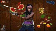 Walking Dead - Michonne + Fruit Ninja