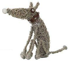 wire sculpture by Sarah Jane Brown Sculpture Projects, Dog Sculpture, Animal Sculptures, Wire Sculptures, Chicken Wire Art, Statues, Paperclay, Wire Crafts, Metal Artwork