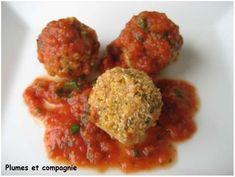Boulettes d'okara de soja en sauce tomate