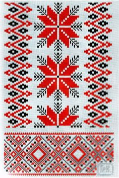 Love traditional borders in red, black, and white. But would be awesome in pink and orange!