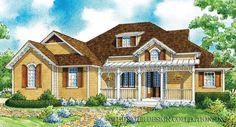 """Classic country. The """"Riverwood"""" home plan l Sater Design Collection l Small Home Plans"""