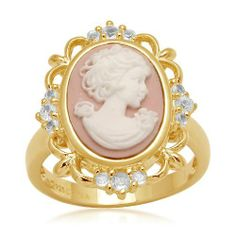 Sterling Silver Created White Sapphire and Pink Cameo Ring, Size 7 Amazon Curated Collection, http://www.amazon.com/dp/B004AHKMIE/ref=cm_sw_r_pi_dp_QXpFqb1N3TJ5J