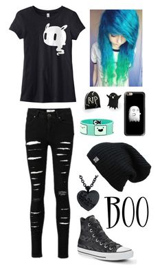 """""""Set 13"""" by justyour-not-soaverageteenager on Polyvore featuring Converse, Casetify, Punky Pins, cute, ghost and spooky"""