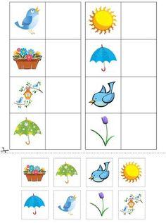 loto Preschool Learning Activities, Preschool Curriculum, Spring Activities, Kindergarten Worksheets, Worksheets For Kids, Preschool Activities, Teaching Kids, Activities For Kids, Matching Worksheets