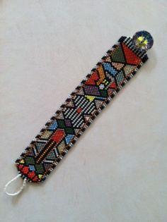 delica bead jewlery | My own geometric design with delicas