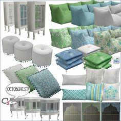 Blue and green set at Loverat Sims4