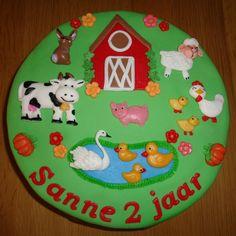 Boerderijtaart voor Sanne 2e verjaardag