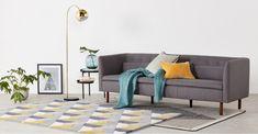 Arceli Floor Lamp, Brass | MADE.com