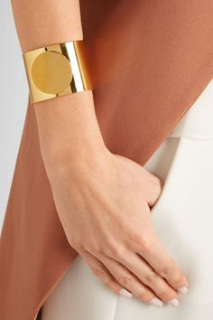 Arme De L'Amour | Circle gold-plated cuff | #ARMEDELAMOUR #ARMEYourself