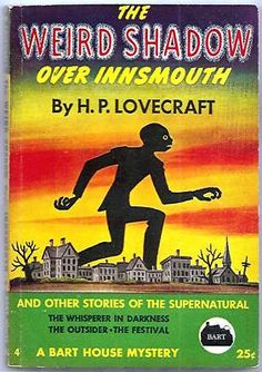 Lovecraft: The Weird Shadow Over Innsmouth Pulp Cover Art, Framed Art, Chthulu, Miskatonic on Etsy Vintage Book Covers, Comic Book Covers, Vintage Books, Science Fiction, Pulp Fiction, La Sombra Sobre Innsmouth, Hp Lovecraft, Pulp Magazine, Magazine Covers