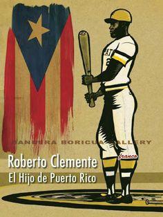 un deporte popular en Puerto Rico es el béisbol. Roberto Clemente tener suerte por qué él es famoso.