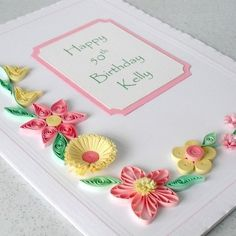 Handmade birthday card quilled quilling  by Paper Daisy Card Design on Folksy£6.00