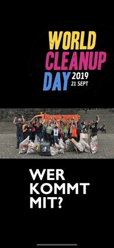 World Cleanup Day 2019 in Koblenz Deadpool Videos, Clean Up, Video Game, World, Day, Cover, Artwork, Movie Posters, Invite Friends