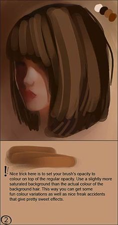 CGSociety - Tutorial: How to Paint Realistic Hair. By Linda Bergvist; Part 2…