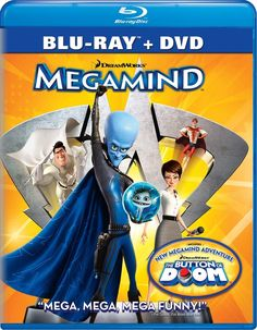 After conquering Metro Man, his superhero nemesis, the villain Megamind creates another villain to fight and discovers that he must become the hero for Metro City. Fight Movies, Cult Movies, Action Movies, Amblin Entertainment, Blockbuster Movies, Dreamworks Animation, Famous Movies, The Villain, Hilarious