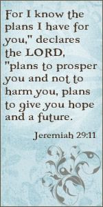 With every obstacle I face in this world, I try and remember that God not only knows my past and sees my present, but He is fully aware of my future. If I trust Him to be my captain, how can I doubt the struggles of today are merely thunderstorms because he is saving me from the hurricane.