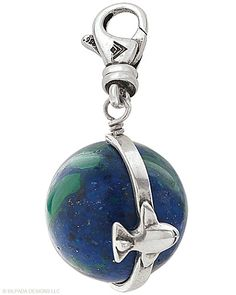 World Travels Charm. The plane moves around the globe. One of my favs!   Contact me to get yours!