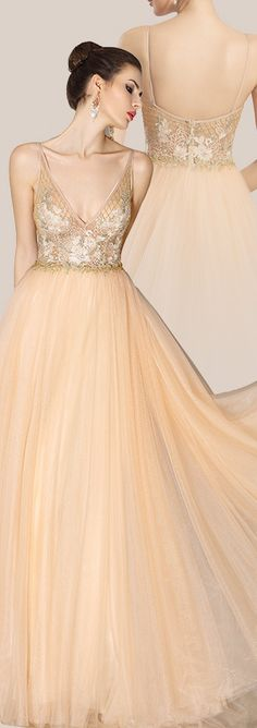 Exquisite Embroidery Bodice Spaghetti Straps Prom Gown Formal Dress