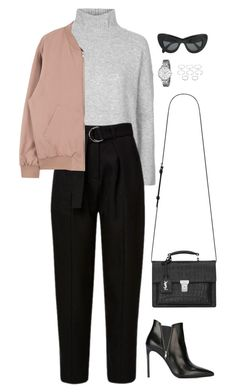 """Sans titre #938"" by romane-inspiration ❤ liked on Polyvore featuring мода, Topshop, Yves Saint Laurent, FOSSIL, Forever 21 и CÉLINE"